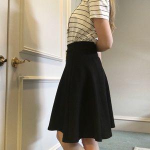 Black Textured Skirt